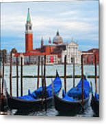 Gondola Station  On Grand Canal Metal Print