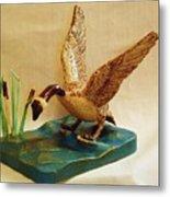 Goose Landing Metal Print