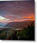 Gorge Sunset Metal Print