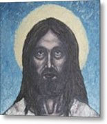 Gothic Jesus Metal Print