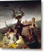 Goya: Witches Sabbath Metal Print