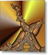 Gradient Meets Fractzilla Metal Print