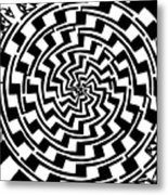Gradient Tunnel Spin Maze Metal Print