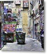 Grafitti Alley Metal Print