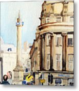 Grainger Monument. Newcastle Upon Tyne Metal Print