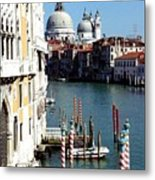 Grand Canal In Venice From Accademia Bridge Metal Print