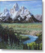 Grand Teton And Snake River Metal Print