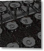 Grandfather's Typewriter Metal Print