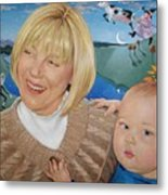Grandma And Kaidin Metal Print