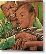 Grandpa And Me Metal Print by Curtis James