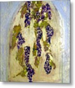 Grapes Through The Old Abbey Window Metal Print