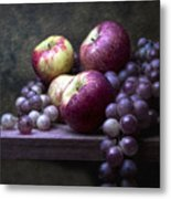 Grapes With Apples Metal Print