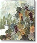 Grapevine Topiary Metal Print