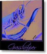 Grasshopper Poster Metal Print