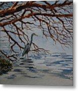 Great Blue Heron Metal Print by Bill Dinkins