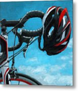 Great Day - Bicycle Oil Painting Metal Print