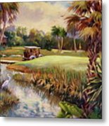 Great Day For Golf Metal Print