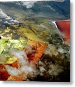 Great Salt Lake From The Air Metal Print