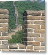 Great Wall From A Tower Metal Print