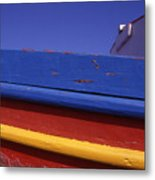 Greece. Colorful Fishing Boat Metal Print
