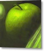 Green Apple Drama Metal Print