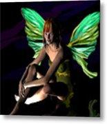Green Fairie Metal Print