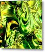 Green Glass Metal Print
