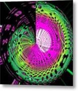 Green-magic-wheel Metal Print