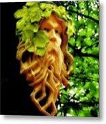 Green Man Metal Print by Jen White