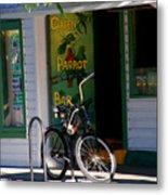 Green Parrot Bar Key West Metal Print by Susanne Van Hulst