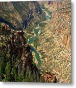 Green River Carving Canyon Metal Print