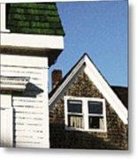 Green Roof Stonington Deer Isle Maine Coast Metal Print