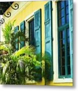 Green Shutters Metal Print by Debbi Granruth