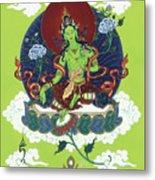 Green Tara Metal Print by Carmen Mensink