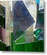 Green Vase Metal Print