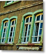 Green Windows Metal Print