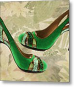 Green With Envy Pumps Metal Print