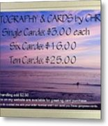 Greeting Card Pricing Info Metal Print