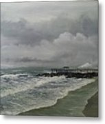 Grey Day At Ocean Grove Metal Print