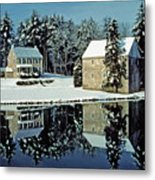 Grings Mill Snow 001 Metal Print