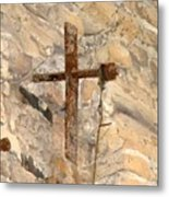 Gristmill Cross Two Metal Print