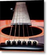 Guitar Orange 19 Metal Print