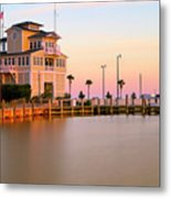 Gulfport Harbor Master's Office - Mississippi - Sunset Metal Print