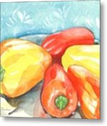 Gypsy Peppers Metal Print