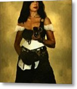 Gypsy Polly Metal Print