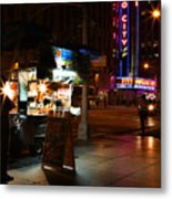 Halal Vendor At Radio City Music Hall Metal Print