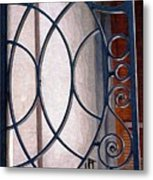 Half Circles On Iron Gate Metal Print