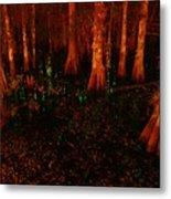Halloween Woods Metal Print