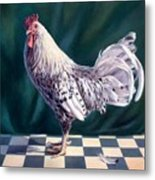 Hamburger Rooster Metal Print