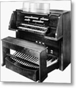 Hammond Organ 1960s Metal Print